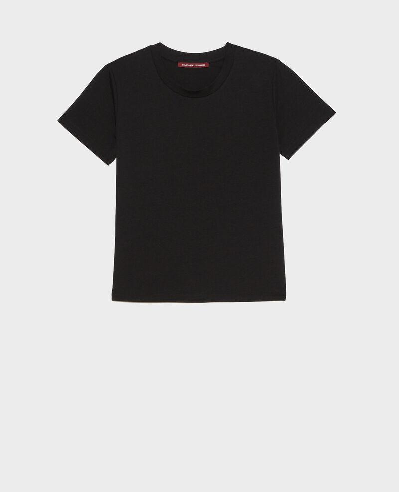 Camiseta fluida con cuello redondo Black beauty Pirous