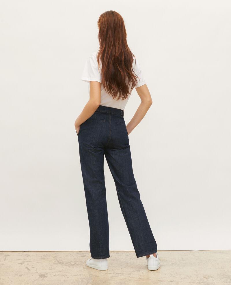 FLARE STRAIGHT - Pantalón ajustado en denim bruto Denim rinse Mibbie