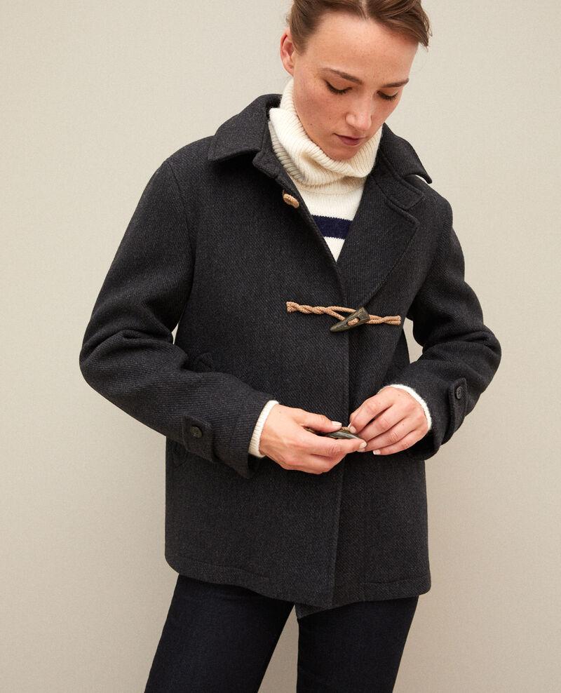 Abrigo corto estilo trenca Dark heather grey Gouziern