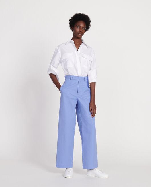 Camisa de popelina de algodón OPTICAL WHITE