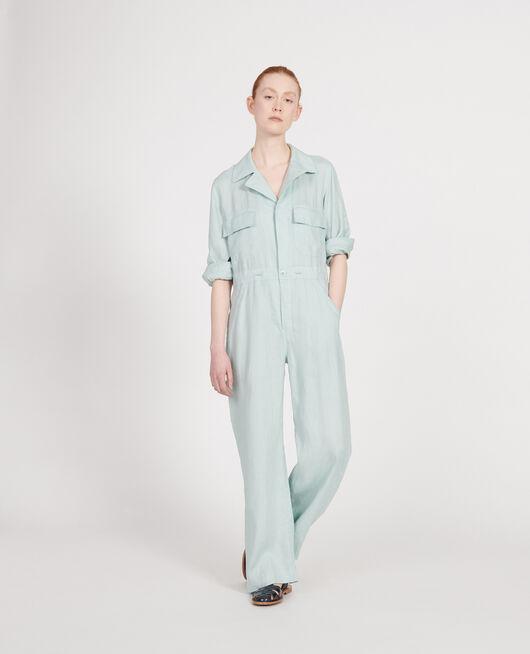 Mono pantalón de lino BLUE HAZE