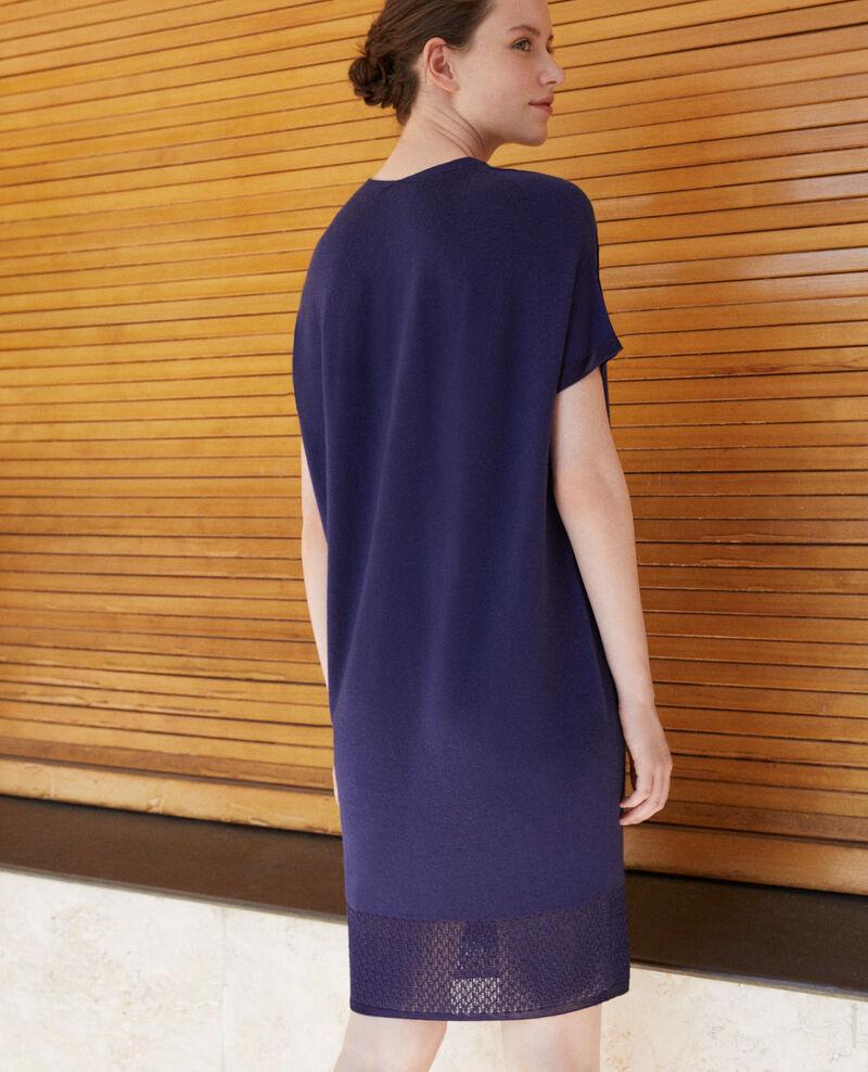 Vestido de punto sin costuras Medieval blue Gedith