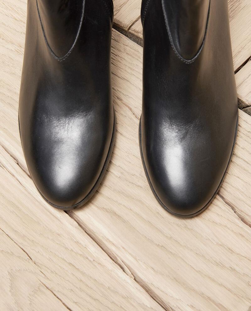 Botines de cuero negro Noir Jayzi