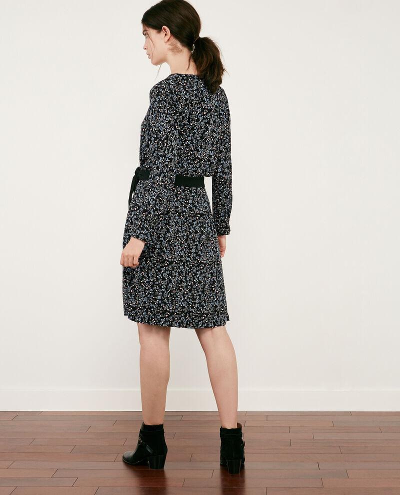 Vestido estampado con escote cruzado Wildcat black Darleville