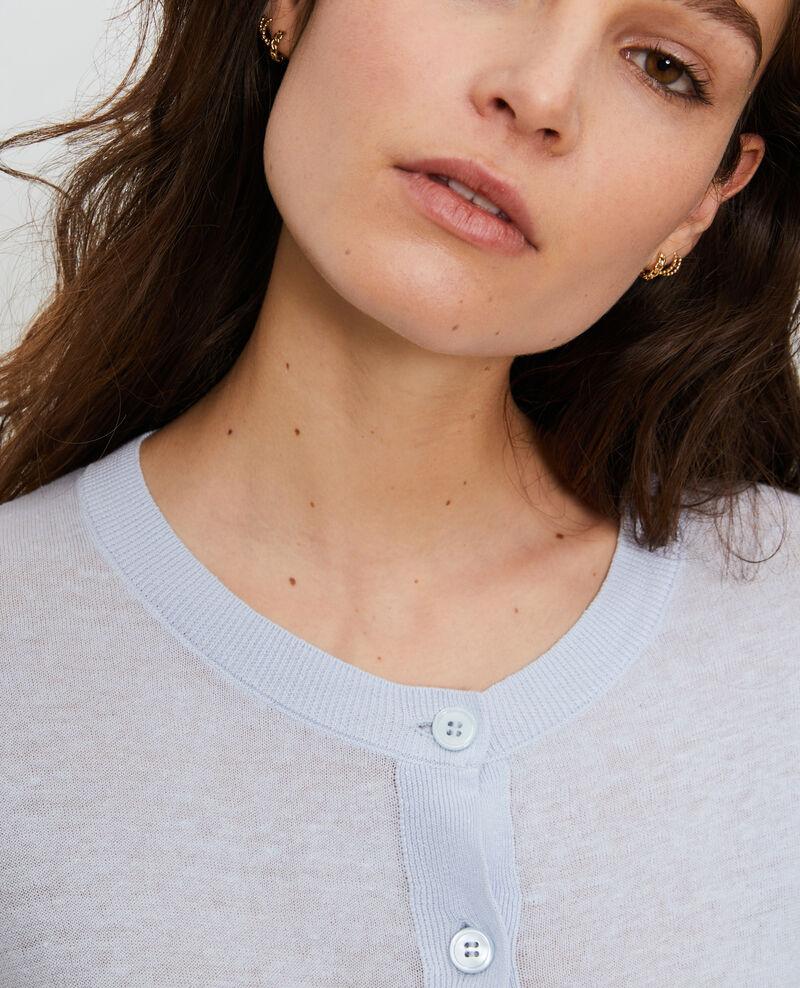 Cárdigan de lino y algodón bío Heather Lagardi