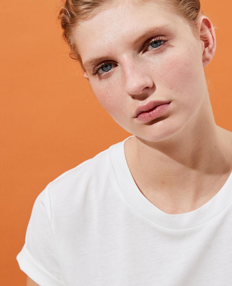 Camiseta fluida con cuello redondo Cloud dancer Pirous