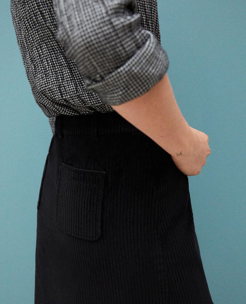 Falda de pana gruesa Negro 9gammon