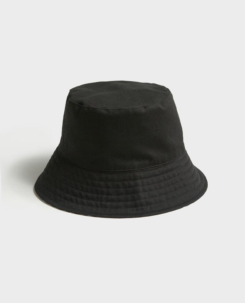 Sombrero bob con borde ancho Black vichy black Looker