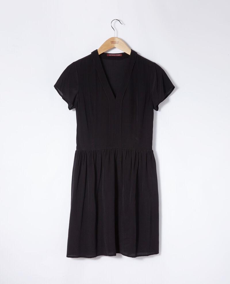 Vestido cuello de pico Negro Ganael