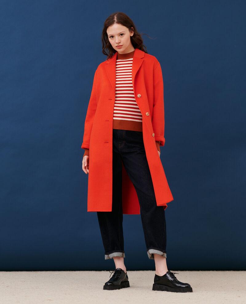 Abrigo de lana Spicy orange Maclas