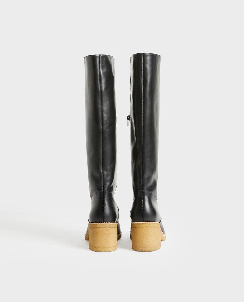 Botas de cuero con suela de crepé Black beauty Payenne