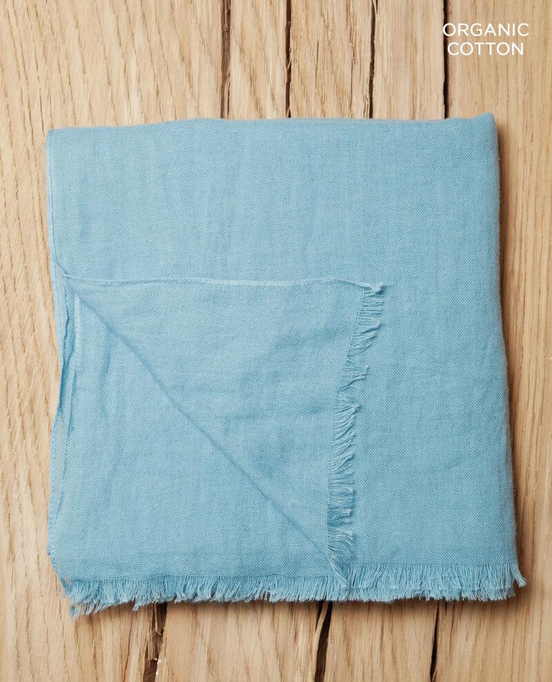 Fular de algodón orgánico Azul Geste