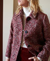 Abrigo de tweed Red melange Jiarritz