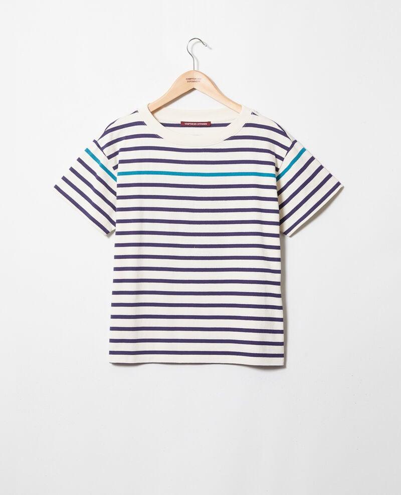 Camiseta de rayas Ow/navy/turquo Ipanka