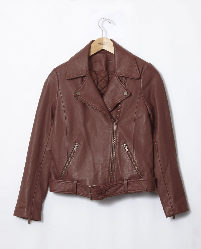 Chaqueta atemporal de cuero  Decadente chocolate Galaxie