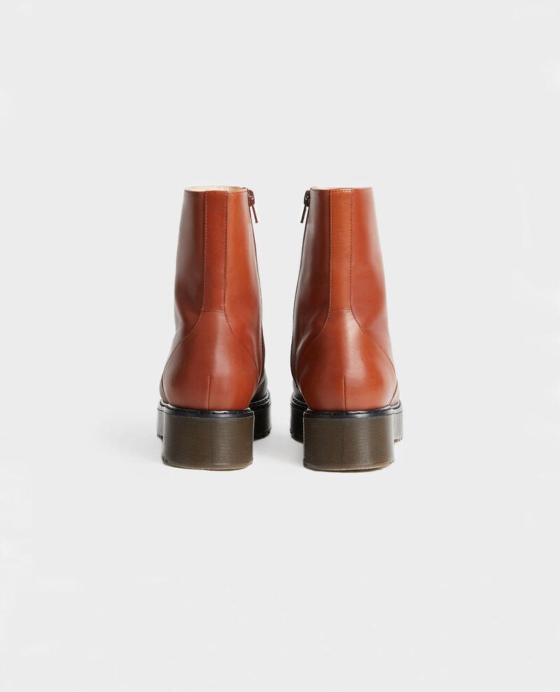 Botines de cuero con plataforma Brandy brown Melun