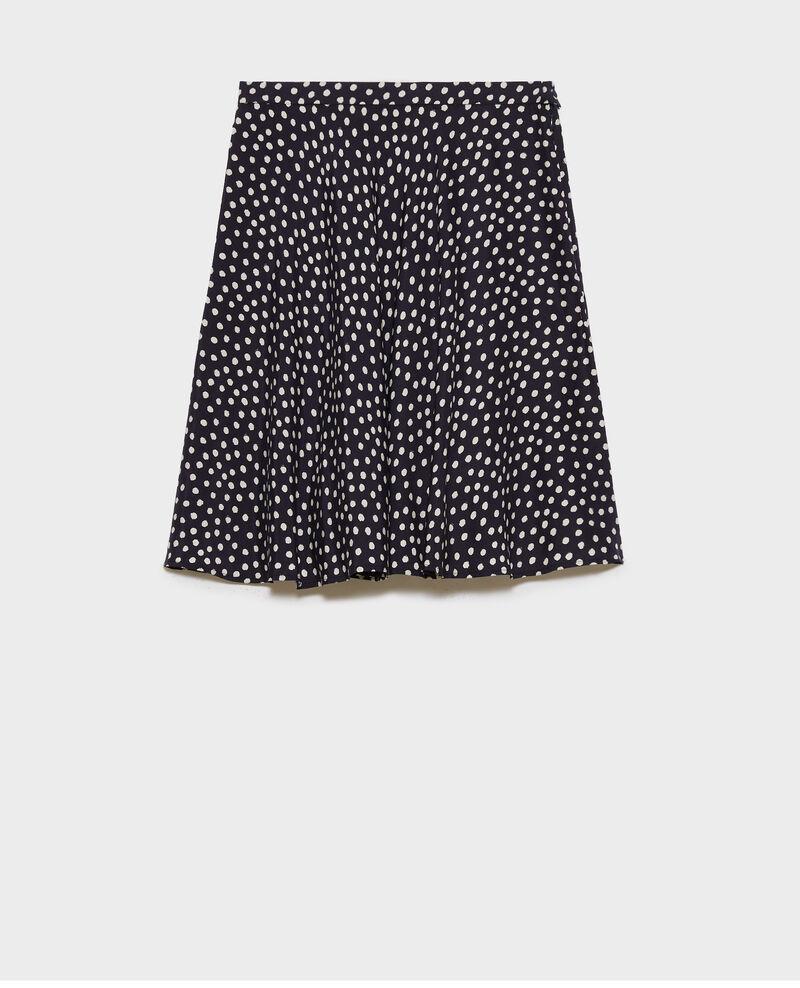 Falda corta de seda Small dots Naurau