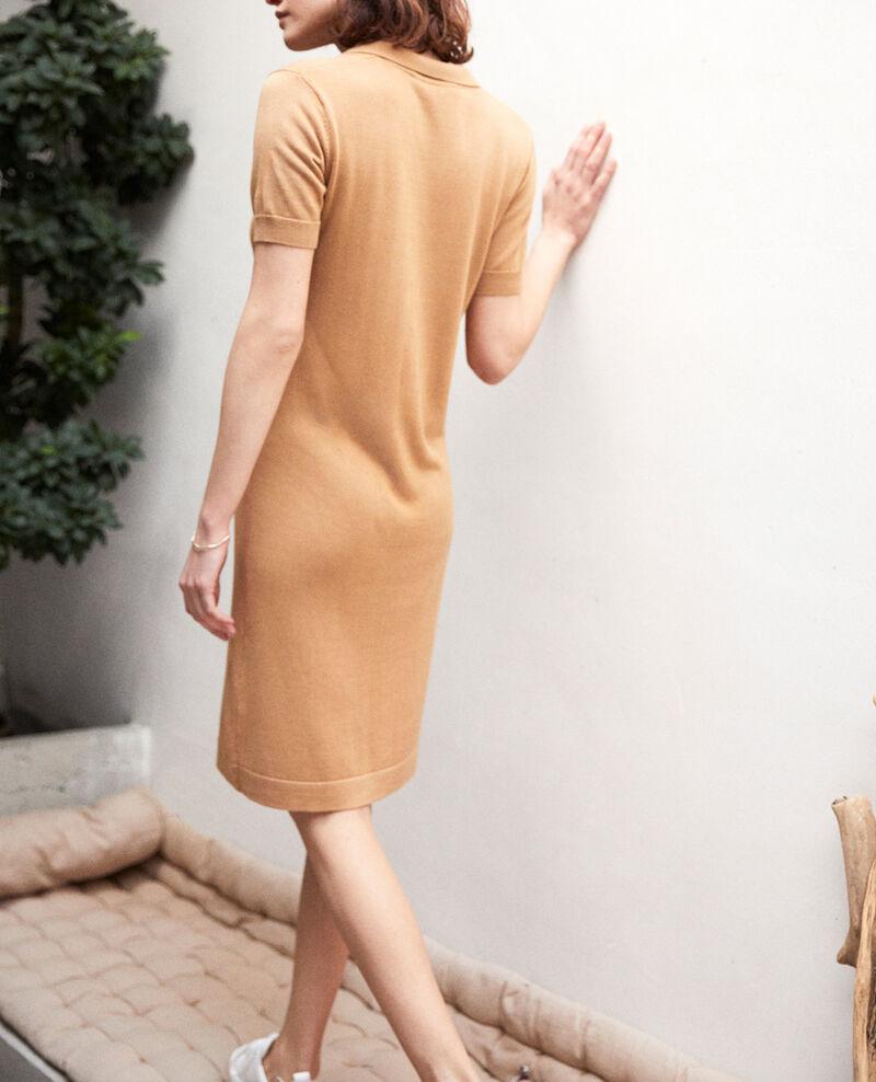 Vestido de punto Camel beige Idee