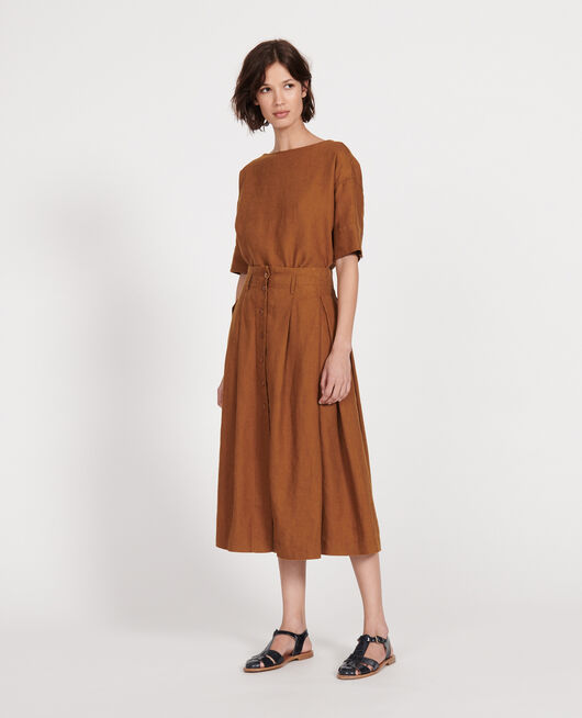 Falda larga de lino MONKS ROBE