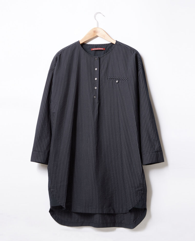 Túnica rayada Navy/off white stripes Facette