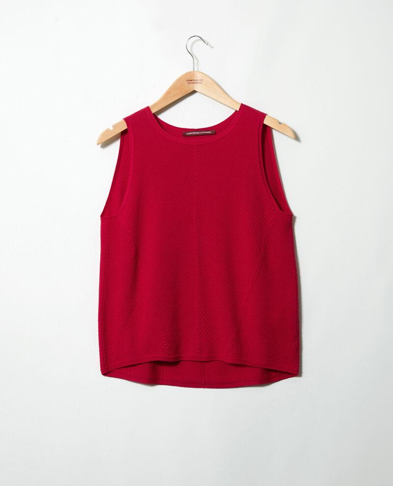 Camiseta de tirantes de algodón 3D Fushia Iranka