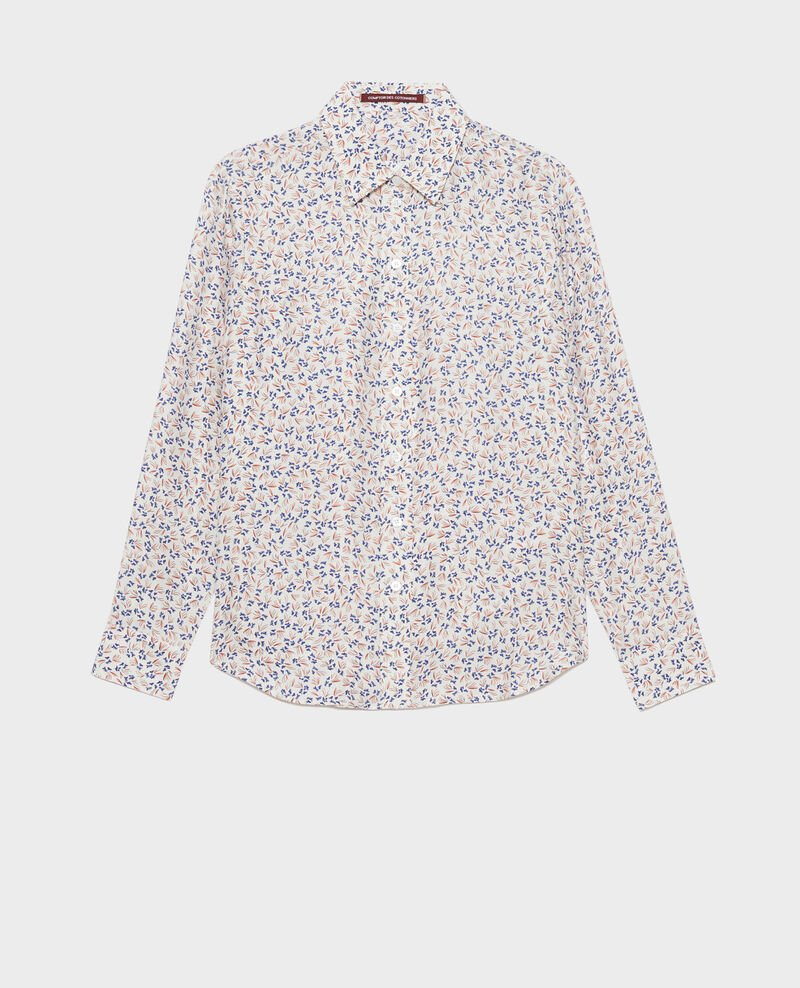 SIBYLLE - Camisa de seda con estampado Clochette spicy Nabilo