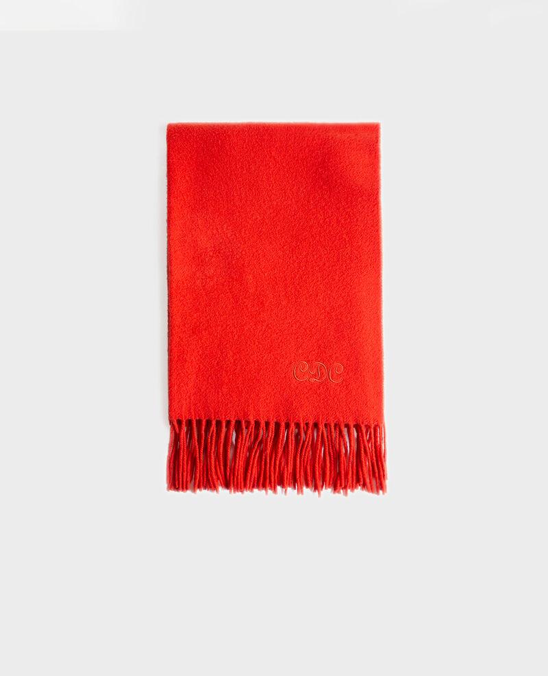 Gran bufanda de lana con flecos Valiant poppy Mautes
