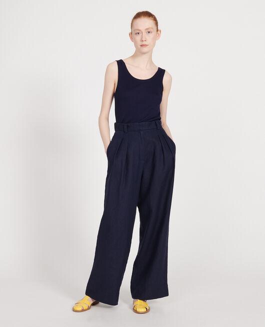 Pantalón de lino MARITIME BLUE
