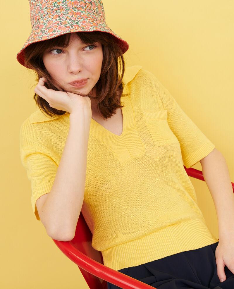 Polo ligero de lino Lemon drop Novella