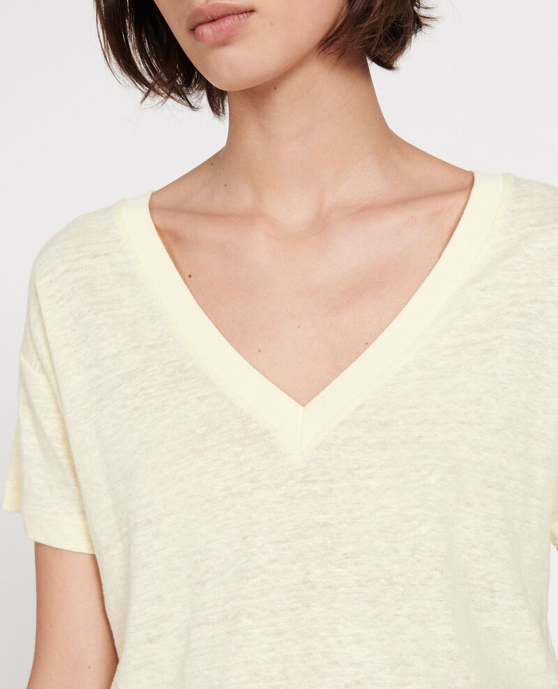 Camiseta de lino Tender yellow Locmelar