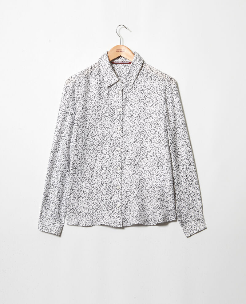 Camisa de corte recto Honey off white Iclimat