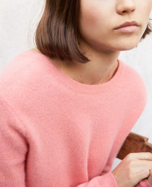 Comptoir des Cotonniers - Jersey cuello redondo de cachemir Salmon pink - 4