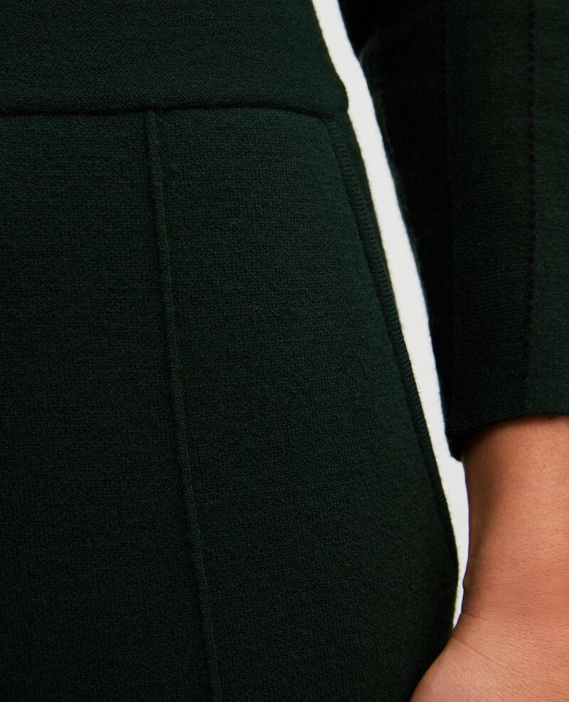 Pantalón ancho de punto jersey de lana Military green Marseillan 2