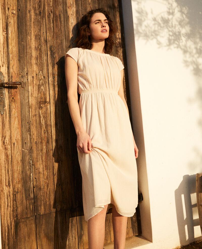 Robe en coton crêpe Linen/white Idem