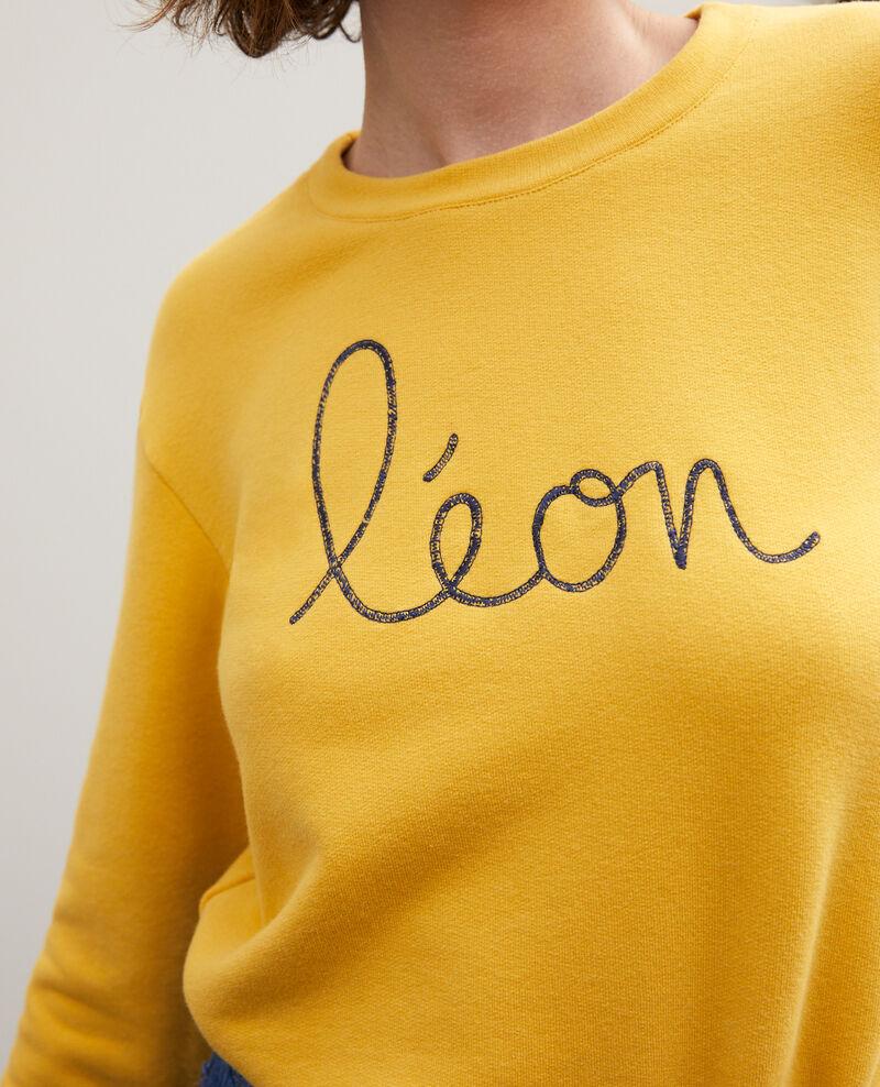 Sudadera con bordado Léon Golden spice/peacoat Gleon