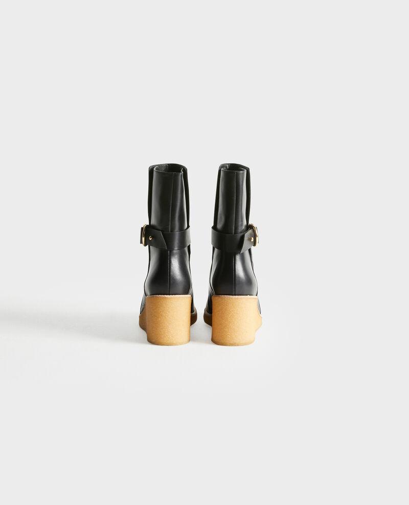 Botines de cuero con plataforma Black beauty Perignylarose