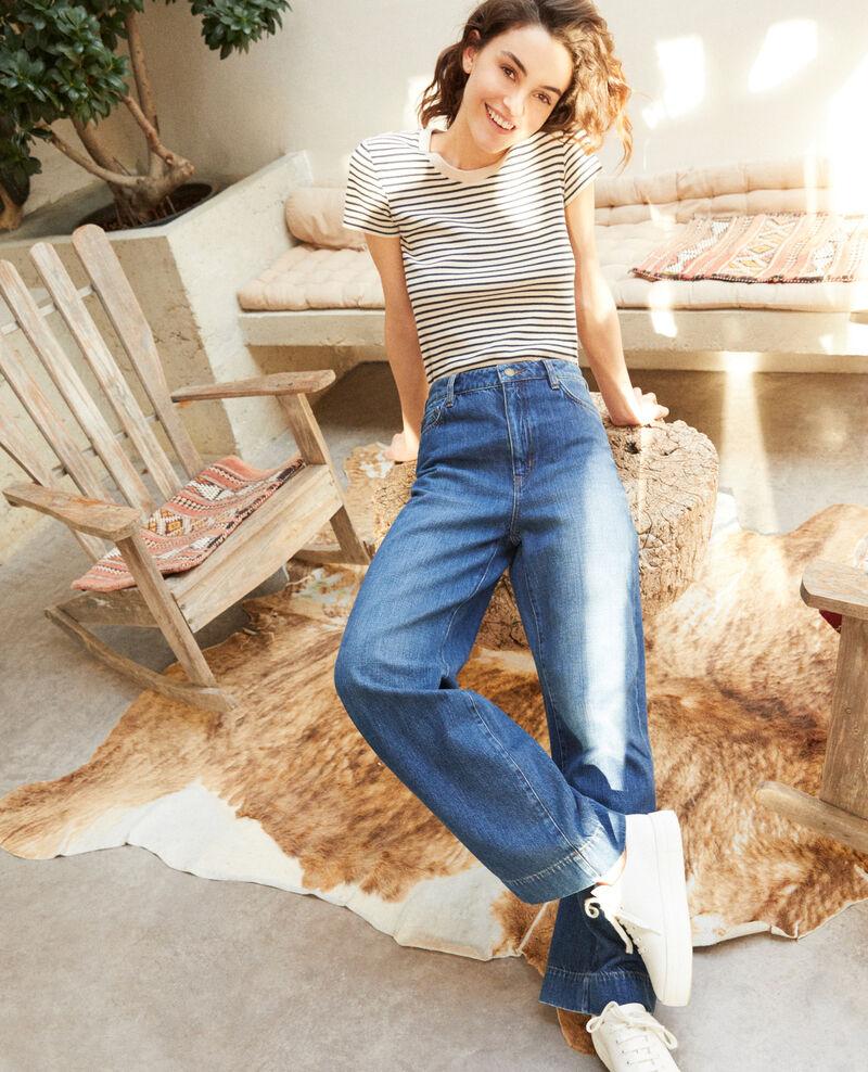 Jeans Wide full length Azul Guya