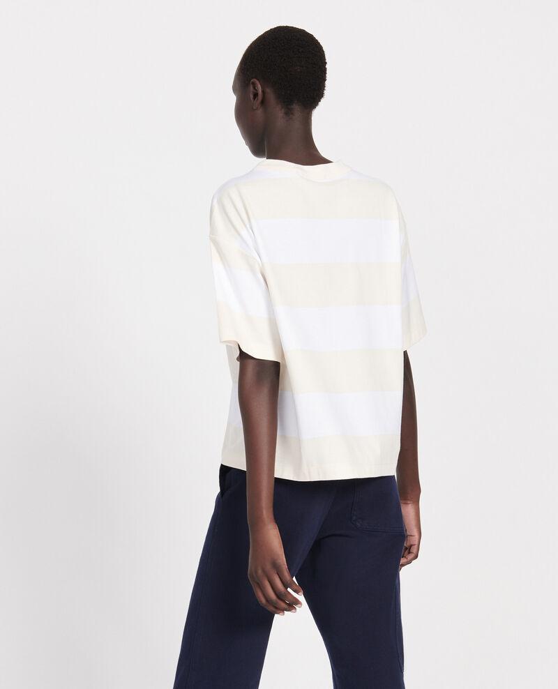 Camiseta rayada oversize Str opticalwhite butter Lord