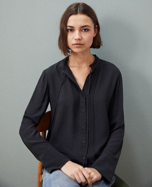Comptoir des Cotonniers - Blusa de seda Noir - 2