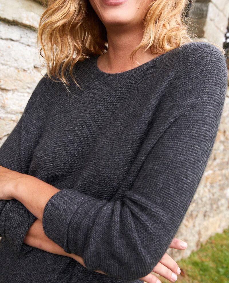 Vestido de punto 3D de 100% cachemir Dark grey Joceline