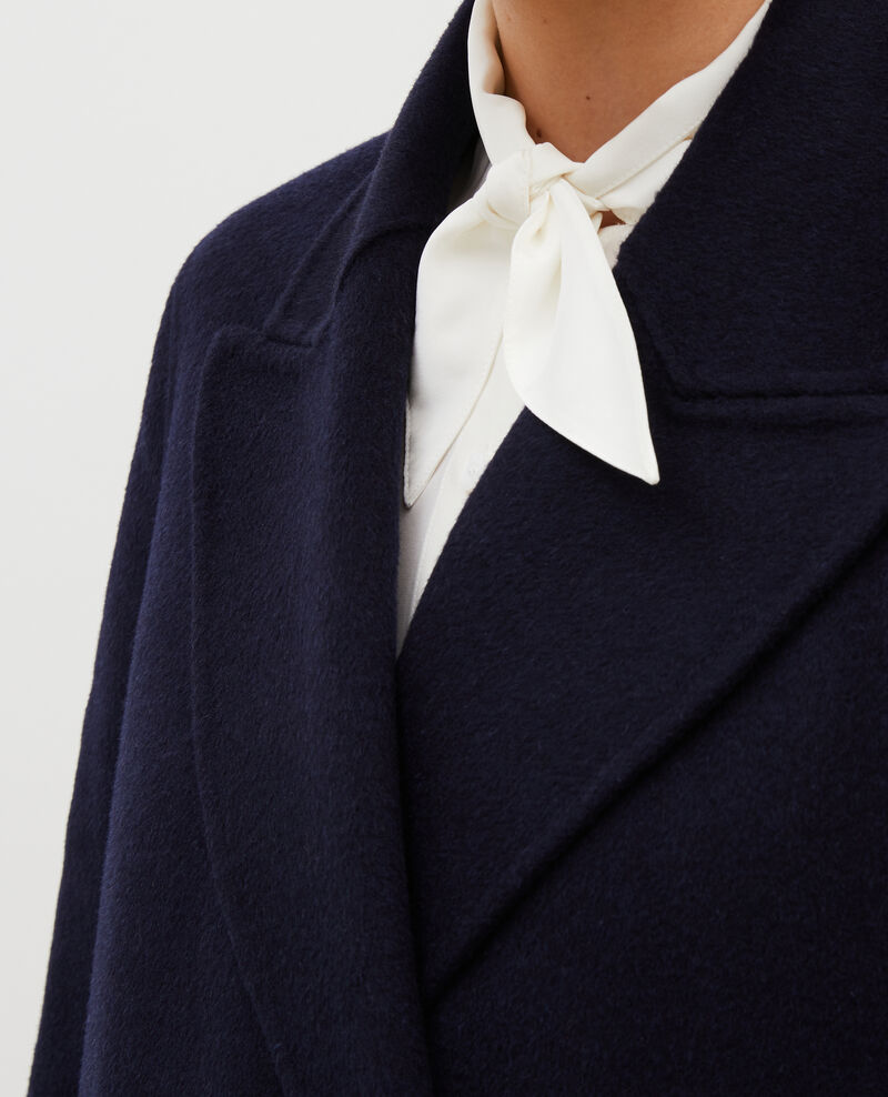 Abrigo de lana y cachemir de doble cara Night sky Minard