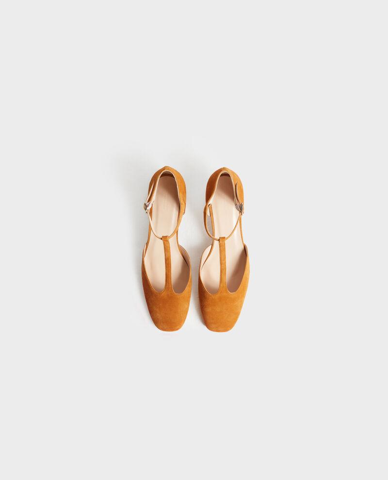 Zapatos salomé de ante con tacón Pumpkin spice Negeve