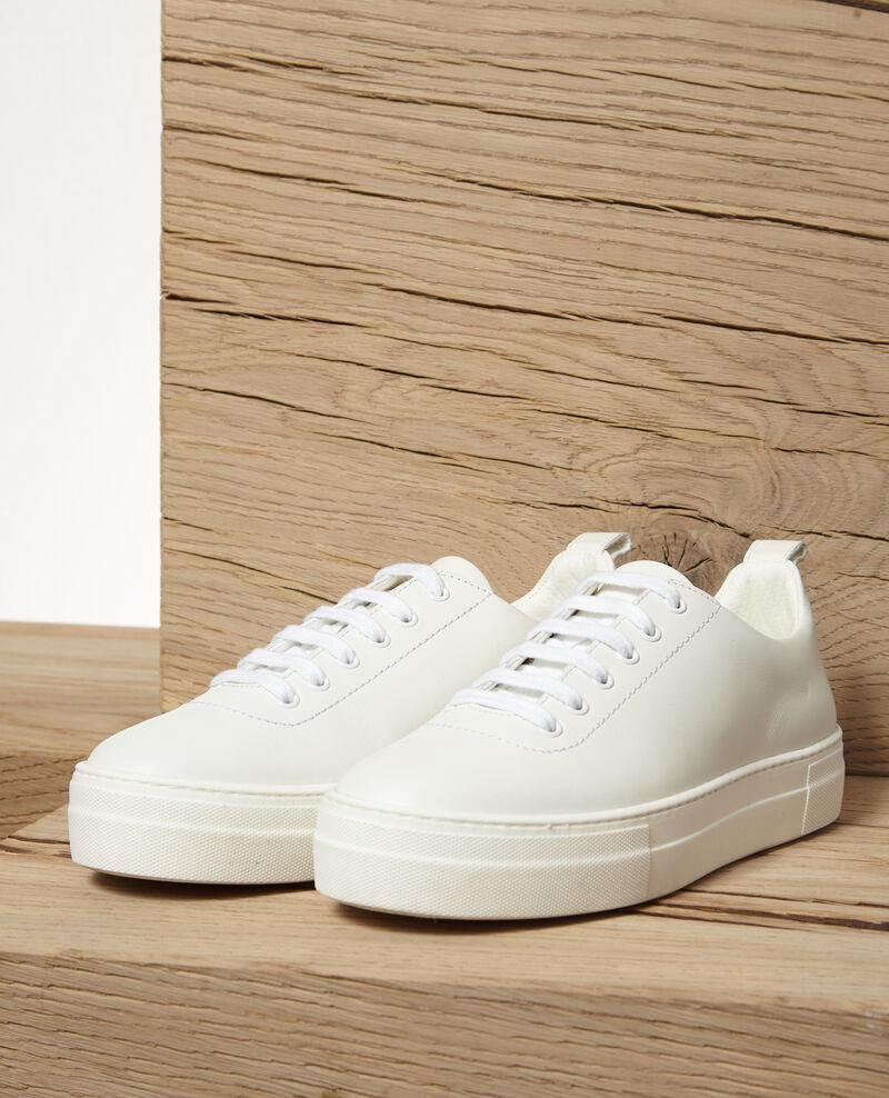 Sneakers con plataforma Blanco Gina