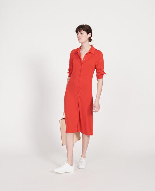 Vestido de seda FIERY RED