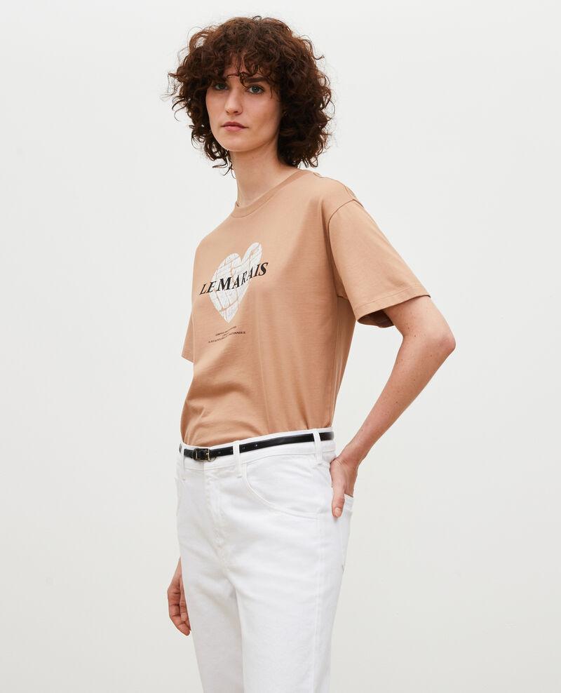 Camiseta de algodón manga corta Latte Mia