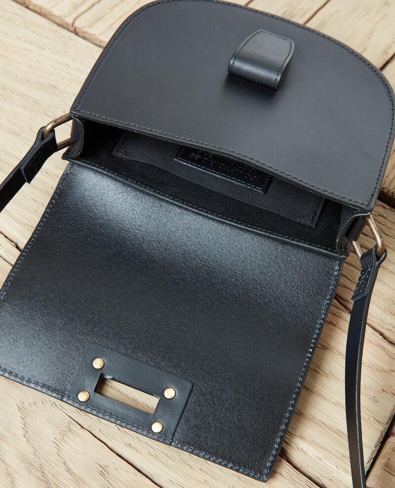 Bolso forma de media luna en pequeño formato Noir Jordani