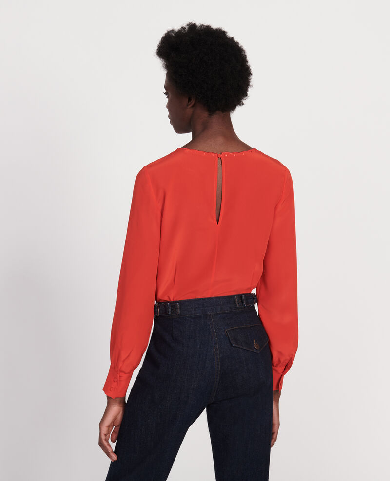 Blusa con bordados Fiery red Lolape