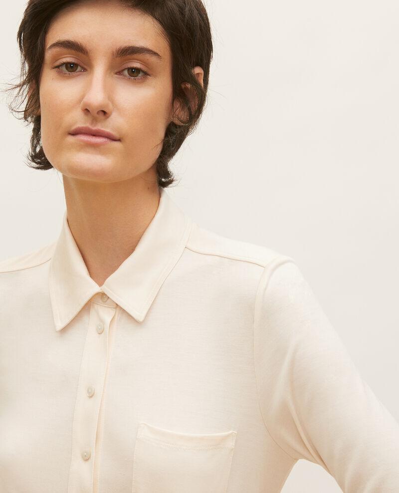 Camisa de punto jersey de seda Buttercream Leanor