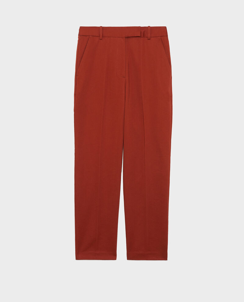 Pantalones chinos MARGUERITE, 7/8 tapered de algodón Brandy brown Mezel