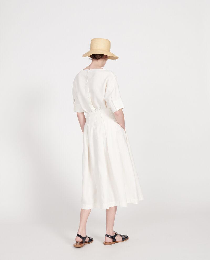 Falda larga de lino Gardenia Lorlange